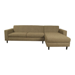 Lazar Industries - Ross Sectional:  Chaise and Adjacent 2-Seater Sleeper Sofa in Woolco Taupe - Ross Sectional:  Chaise and Adjacent 2-Seater Sleeper Sofa by Lazar Industries offers clean lines on a compact, symmetrical and track arm style.