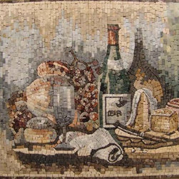 Backsplash handcrafted mosaic mural - We are direct importer of handcrafted of mosaic mural and medaillon. 1000's style to choose from or we can make any custom desing ,logo,portrait... ect. Any size . choose your own stone color. contact us for more info