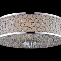 Z-Lite Synergy Two-Light Flush Mount - Loop-de-loop! This light's modern swirls would add a bit of whimsy to your bathroom.