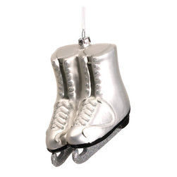 Silk Plants Direct - Silk Plants Direct Glass Ice Skates Ornament (Pack of 6) - Pack of 6. Silk Plants Direct specializes in manufacturing, design and supply of the most life-like, premium quality artificial plants, trees, flowers, arrangements, topiaries and containers for home, office and commercial use. Our Glass Ice Skates Ornament includes the following: