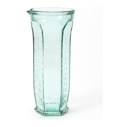Global Amici - 17-Oz. Dosatore Measuring Jug - Made in Italy from recycled glass, this gorgeous glass jug can be used for measuring dry ingredients or doubles as a utensil holder.    9.5'' H x 3'' diameter Holds 17 oz. Recycled glass Hand wash Made in Italy
