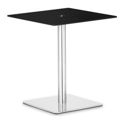 ZUO MODERN - Dimensional Pub Table Black - The understated elegance of the Dimensional table series makes it suitable for any application. Made from a tempered painted glass top and a chrome and stainless steel base.
