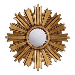 ETHAN ALLEN :: Glamorous Rooms - Ethan Allen Mini Gold Starburst Mirror