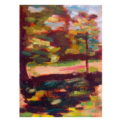 Esther'S Shade, Original, Painting - Vermont landscape plein air oil painting.