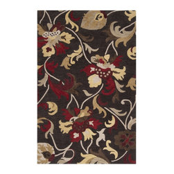 "Surya - Country & Floral Centennial Hallway Runner 2'6""x8' Runner Jet Black-Pale Gold Ar - The Centennial area rug Collection offers an affordable assortment of Country & Floral stylings. Centennial features a blend of natural Jet Black-Pale Gold color. Hand Tufted of 100% Wool the Centennial Collection is an intriguing compliment to any decor."
