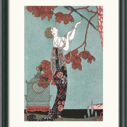 Amanti Art - Fashion Illustration, 1914 Framed Print by George Barbier - Flaunt your inner fashionista with this framed print from renowned fashion illustrator George Barbier!