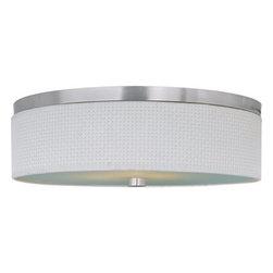 ET2 - ET2 E95104-100 Elements 3-Bulb Flush Mount Indoor Ceiling Fixture - Fabric Shade - Product Features: