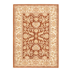 "Torabi Rugs - Machine made Lotus Garden Espresso Brown Polypropylene Rug 4'0"" x 5'7"" - Stylish designed rugs that are designed to provide high levels of comfort and practicality. Reminiscent of the famous American Sarouk designs of the William Morris rugs, the Lotus Garden series is a unique collection of power-loomed heat set two ply yarn rugs that evoke a sense of the past in modern-day colors and interpretations."