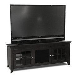 """Tech Craft - Tech-Craft Veneto 60"""" Black Hi-Boy Wood LCD/Plasma TV Stand - Tech Craft - TV Stands - CRE60B. This timeless Tech-Craft Veneto Series 60"""" Black Hi-Boy Wood Stand features a bold black finish that will go well with any decor. With three adjustable shelves the TV stand has ample room for component storage. The beautiful framed doors on the Veneto Series 60"""" Black Hi-Boy Stand adds to its beauty."""