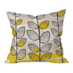DENY Designs - Rachael Taylor 50s Inspired Throw Pillow, 18x18x5 - If you love Lucy — and consider Donna Reed and Mrs. Cleaver home decor icons too — you'll find this pillow pure perfection. The lively leafy pattern has a retro feel that will fit right in with your nostalgic space.