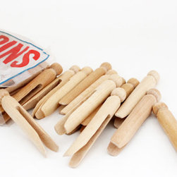 Old-Fashioned Wooden Clothespins by Bailiwick Vintage, Set of 50 - Whether I use them or not, I definitely need a package of old-fashioned clothespins in my laundry room.
