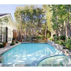 backyard pool-Santa Monica house