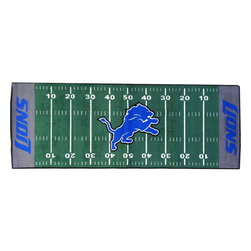 Fanmats - NFL Detroit Lions Football Long Accent Runner Rug - Features: