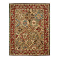 Nourison - NOUR-66749 Nourison Living Treasures Area Rug Collection - Bring a rare element of history, luxury and artistic sensibility into your home with this fine collection. Traditional classical Persian designs that were created centuries ago are featured in a dynamic interplay of patterns, colors, tones and textures. Turn any room into a sophisticated living area with these exquisitely crafted rugs.