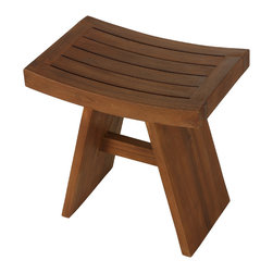 Bare Decor - Sofi Shower Stool in Solid Teak Wood - Escape from the ordinary with this fully assembled Sofi solid teak shower stool.