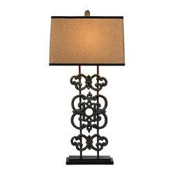 Bassett Mirror - Bassett Mirror Capistrano Table Lamp L2512TEC - Bassett Mirror Capistrano Table Lamp L2512TEC