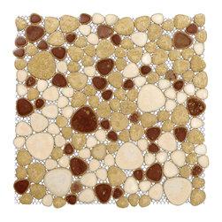 Home Elements - Porcelain Pebble Tile, 1 Square Foot - Product Description