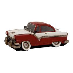 Maroon Polished Fantastic Polystone Car Piggy Bank - Description: