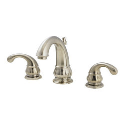 "Pfister - Pfister GT49-DK00 Brushed Nickel Treviso Treviso Widespread Bathroom - Treviso Widespread Bathroom Sink Faucet Low LeadAs one of PfisterÂ's most popular series, the Treviso collection of bathroom and kitchen faucets and fixtures is also one of its most complete. Italian-inspired design elements propel these fixtures to an elite level. Time-honored qualities like ornate lever handles and traditional-themed spouts give these fixtures a unique and distinct look and feel. The bathroom faucets include single- and double-handle control as well as centerset and widespread configurations, while tub and shower fixtures help complete the space.The same design elements are reflected in the kitchen faucets. High-arc spouts pair up with gorgeous lever handles. And with options like sidespray, soap dispenser, and pullout spray, PfisterÂ's Treviso collection is totally comfortable complementing any kitchen.All brass faucet body construction - Weight: 7.5 LBSWidespread mounting for 8"" - 15"" centers, 3 hole installations2 metal lever handles includedADA compliantIndustry leading, lifetime ceramic disc valvePop up drain and assembly includedOverall height: 5.5625"" (measured from counter top to highest point of faucet)Spout height: 3.75"" (measured from counter top to spout outlet)Spout reach: 4.5625"" (measured from center of faucet base to center of spout outlet)WaterSense certified - 1.5 gallon-per-minute flow rateInstalls onto decks (counter tops) up to 1.5"" thickLow lead compliant - complies with CA and VT low-lead requirements for plumbing productsDesigned for use with standard US plumbing connectionsAll necessary mounting hardware includedFully covered under Pfister s Pforever Lifetime WarrantyAbout PfisterFounded in 1910, Pfister (previously known as Price Pfister) is one of AmericaÂ's oldest and most experienced plumbing companies. As the first faucet manuf"