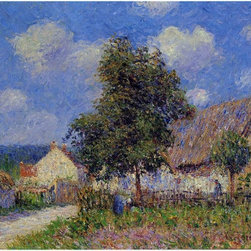 """Art MegaMart - Gustave Loiseau Small Farm at Vaudreuil - 20"""" x 25"""" Premium Canvas Print - 20"""" x 25"""" Gustave Loiseau Small Farm at Vaudreuil premium canvas print reproduced to meet museum quality standards. Our museum quality canvas prints are produced using high-precision print technology for a more accurate reproduction printed on high quality canvas with fade-resistant, archival inks. Our progressive business model allows us to offer works of art to you at the best wholesale pricing, significantly less than art gallery prices, affordable to all. We present a comprehensive collection of exceptional canvas art reproductions by Gustave Loiseau."""