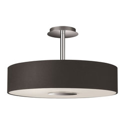 Philips - Philips PH-374813048 Dani Ceiling with Black fabric shade and etched glass, Blac - Philips PH-374813048 Dani Ceiling with Black fabric shade and etched glass, Black