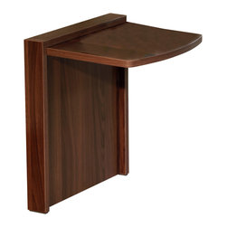 Mullner - Tuc-Away Table / Folding Table Walnut - It's there when you need it, and folds away when you don't.