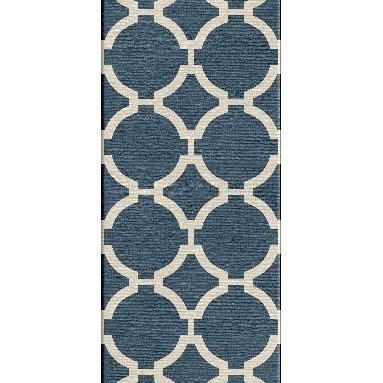 Jaipur Rugs - Flat Weave Geometric Pattern Blue Wool Handmade Rug - MR19, 2.6x8 - An array of simple flat weave designs in 100% wool - from simple modern geometrics to stripes and Ikats. Colors look modern and fresh and very contemporary.