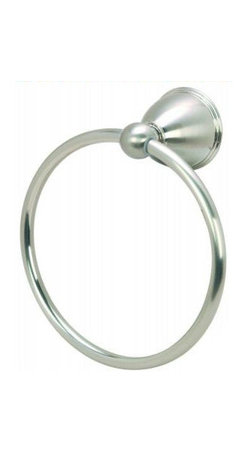 Astor Series Bathroom Collection, Satin Nickel, Towel Ring - Concealed Screw Mounting System