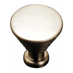 Richelieu Hardware - Richelieu Contemporary Solid Brass Knob 25mm Satin Nickel - Richelieu Contemporary Solid Brass Knob 25mm Satin Nickel