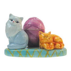 Westland - 3.25 Inch Colorful Cats Lounging Salt and Pepper Toothpick Holder Set - This gorgeous 3.25 Inch Colorful Cats Lounging Salt and Pepper Toothpick Holder Set has the finest details and highest quality you will find anywhere! 3.25 Inch Colorful Cats Lounging Salt and Pepper Toothpick Holder Set is truly remarkable.