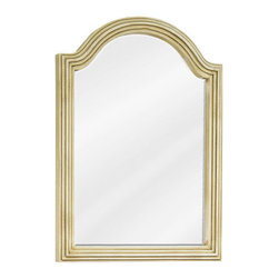 Elements - Elements MIR028D-60 Compton Collection Arched 22 x 30 Inch Bathroom Vanity Mirro - This fashionable vanity mirror from Element's Compton Collection features an arched, portrait-hung design that's perfect for complementing a variety of bathroom decor. Boasting elegant craftwork and gorgeous beveled glass, this mirror is the ideal choice for completing any bathroom makeover.Vanity Mirror: Designed to accompany Elements vanities VAN028-48 and VAN028D-60. This mirror looks great as either part of a vanity set, or as a standalone accessory. Features: