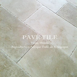 "Vieux Monde French Limestone - Vieux Monde Reproduction Dalle de Bourgogne is a stone floor above all else. Grand dalle that have a sublime patina in greys and cremes - a glorious stone floor with authenticity and presence.  Sizes: 16"" x random length x 3/4""."