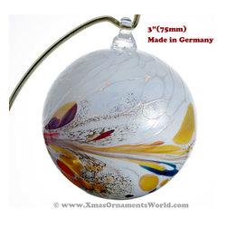 "Reinhard Herzog Studio (Germany) - ""Iris"" Glass Ball Ornament"