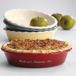 Personalized Pie Dish - My husband's family has a tradition in which every person gets at least one pie. That means we have anywhere from 40-60 pies on Thanksgiving day. It's total madness but so fun. I love the idea of everyone having their own pie pan with their name on it.