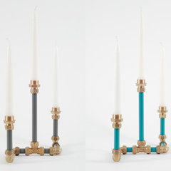 eclectic candles and candle holders by Nick Fraser Design