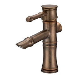 "Danze - Danze® South Sea™ Single Handle Lavatory Faucet - Distressed Bronze - Danze® products are beautiful inside and out, from our rich, lustrous finishes to our ceramic disc valves with a Drip-Free guarantee to our solid brass waterways. The South Sea™ will transform any bath into a tropical retreat! This unique bamboo-styled collection is a breath of fresh air in a world of stale design. Available in multiple finishes.Features Ceramic disc valve Touch down drain assembly Solid brass body 3/8"" compression Single hole mount with optional deck plate Manufacturer's limited ""lifetime"" warranty Low lead product (California CA AB-1953 and Vermont Act 193 compliant) ADA Compliant View Spec Sheet"