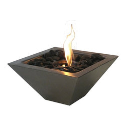 "Anywhere Fireplace - Empire Indoor/Outdoor Fireplace - Dimensions: 12""W x 5""H x 12""D"