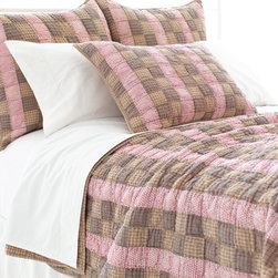 Pine Cone Hill - frontier quilt - Designed in the Berkshires of Massachusetts, every item from the pine cone hill bedding collection has been tailored from high quality imported textiles in a variety of versatile neutrals, vibrant hues and engaging patterns. Choose from textiles that weave a complementary theme throughout your entire bedroom and beyond. Many patterns and colors are available in blankets, duvets. throws, decorative pillows, shams and bed skirts.