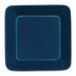 Iittala - Teema Square Plate, Blue - A chic square plate is a great alternative to traditional round dinnerware. Your meals are sure to take on a sophisticated feel on these modern plates. And cleanup is a breeze since these are dishwasher safe!