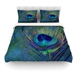 "Kess InHouse - Robin Dickinson ""Plume"" Cotton Duvet Cover (Twin, 68"" x 88"") - Rest in comfort among this artistically inclined cotton blend duvet cover. This duvet cover is as light as a feather! You will be sure to be the envy of all of your guests with this aesthetically pleasing duvet. We highly recommend washing this as many times as you like as this material will not fade or lose comfort. Cotton blended, this duvet cover is not only beautiful and artistic but can be used year round with a duvet insert! Add our cotton shams to make your bed complete and looking stylish and artistic! Pillowcases not included."