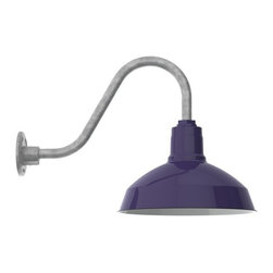 Barn Light Electric Co. - Goodrich® Dino Porcelain Gooseneck Light - The Goodrich® Dino is a smaller version of our Goodrich® Sky Chief. The Dino makes for an ideal porch light next to a front door or garden shed. It can be customized in numerous finish options as well!
