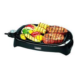 HAMILTON BEACH BRANDS, INC. - Hamilton Beach Health Smart Indoor Outdoor Grill - Hamilton Beach Health Smart Indoor Outdoor Grill gives you the high heat needed to lock in juices and properly brown the outside. It features easy-to-use controls and built-in versatility.