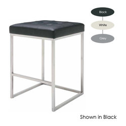 Chi Counter Stool, Set of 2, Grey
