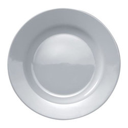 """Alessi - PlateBowlCup Dinner Plate -Set of 4 by Alessi - The Alessi PlateBowlCup Dinner Plate designed by Jasper Morrison. PlateBowlCup tableware and Glass Family glasses take their place alongside the KnifeForkSpoon cutlery(2004), thus forming the first complete alessi """"entry level"""" tableware collection in alessi's catalogues.  The PlateBowlCup Dinner Plate features White porcelain."""