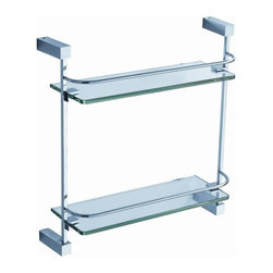 Fresca - Ottimo 2 Tier Glass Shelf in Triple Chrome Fi - Made with heavy duty brass. Triple chrome finish. 1-Year warranty on parts. 15 in. W x 5 in. D x 15.75 in. HAll of our Fresca bathroom accessories are made with brass with a triple chrome finish and have been chosen to compliment our other line of products including our vanities, faucets, shower panels and toilets. They are imported and selected for their modern, cutting edge designs.
