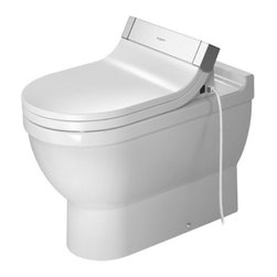 Duravit - Duravit | Starck 3 Floor Standing Toilet - Design by Philippe Starck.Made in Germany by Duravit.A part of the Starck 3 Collection. The Starck 3 Floor Standing Toilet will provide a sleek and modern look to your bathroom. This floor-standing toilet is made from porcelain, which makes it resistant to stains and cracking. Compatible only with the Geberit Monolith Floor Mounted Toilet Tank, the Stark 3 Floor Standing Toilet will upgrade your bath space while ensure long-lasting quality. Product Features: