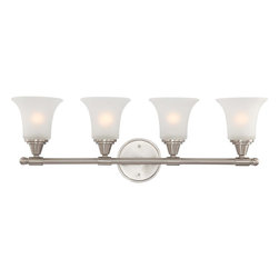 Nuvo Lighting - Nuvo Lighting 60-4144 Surrey 4-Light Vanity Fixture with Frosted Glass - Nuvo Lighting 60-4144 Surrey 4-Light Vanity Fixture with Frosted Glass