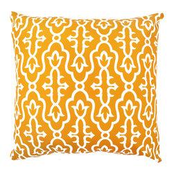 DD - Orange Miara Outdoor Pillow - Brighten your back yard with this gorgeous Miara pillow.