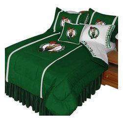 Store51 LLC - NBA Boston Celtics Comforter Pillowcase Basketball Bedding, Queen - Features:
