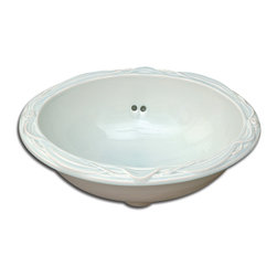 Sinks and Accessories - Pratt and Larson's Drapery Sink. Also available in any of our 300+ glaze options.
